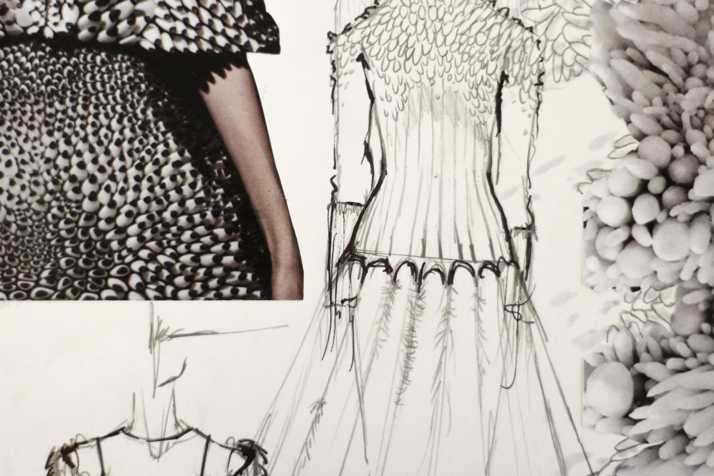 Patricia sketches fashion